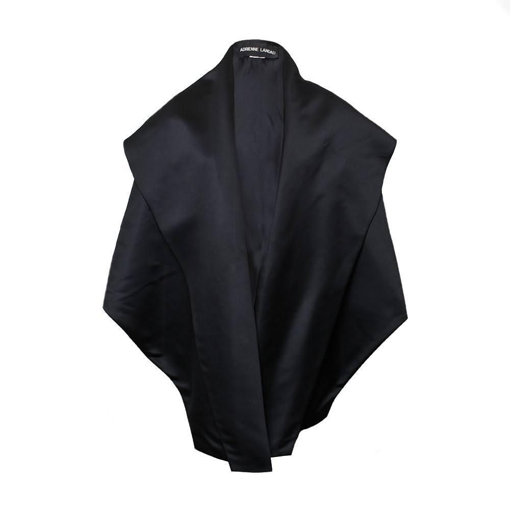 Adrienne Landau Black Wrap Jacket