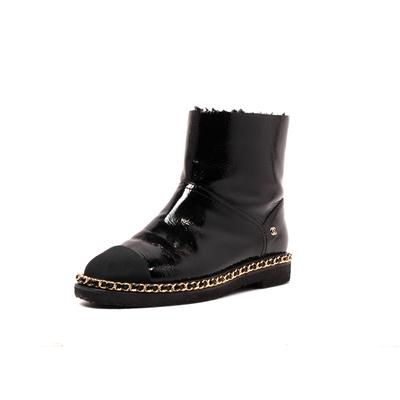 Chanel Size 8.5 Nylon Toe Cap Boots