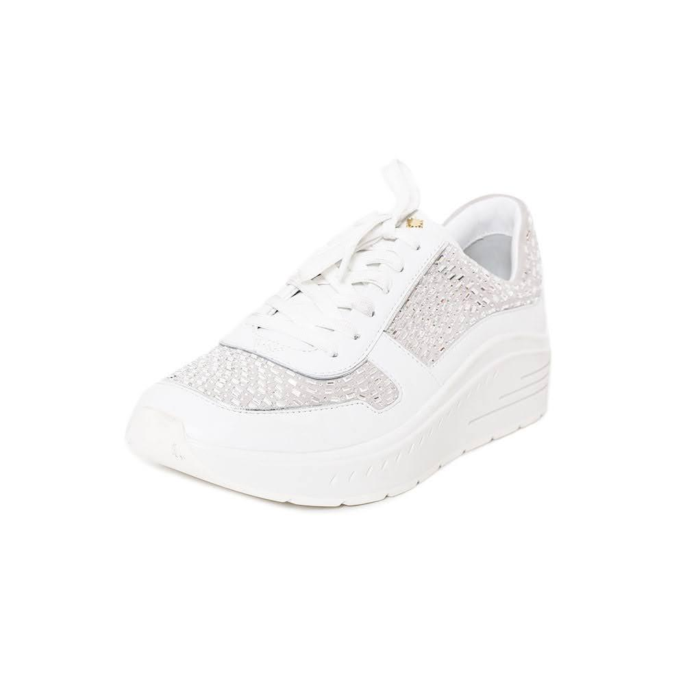 Stuart Weitzman Size 8.5 Crystal Embellished Sneaker