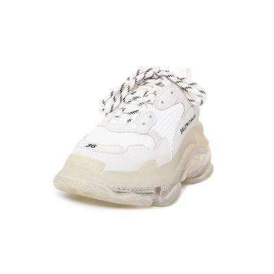 Balenciaga Size 6 Triple S White Sneaker