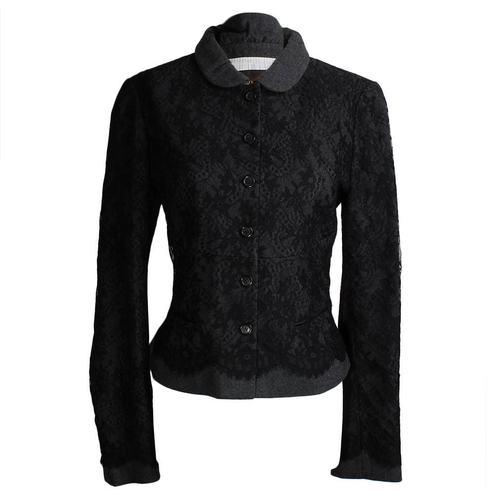 Louis Vuitton Size Small Mesh Floral Jacket