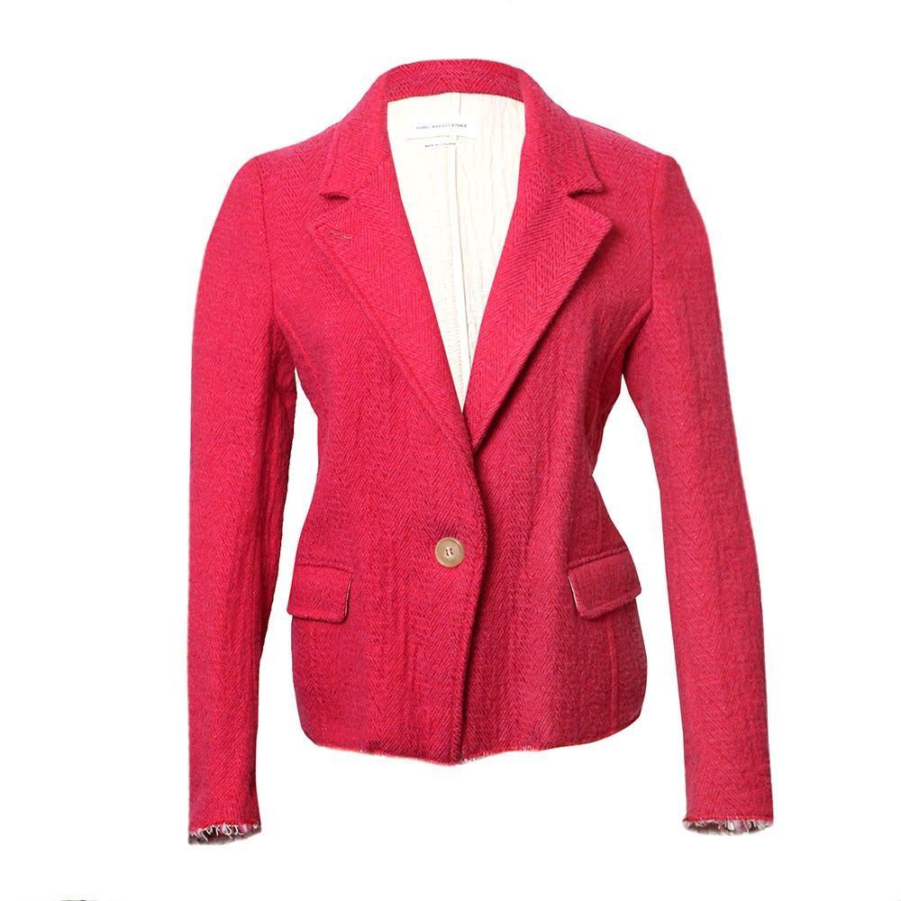 Isabel Marant Pink Etoile Woven Size Small Blazer