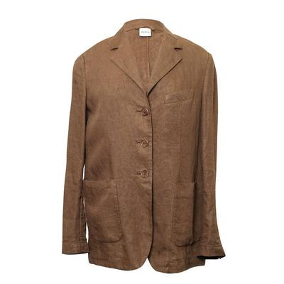Aspesi Size 42 Brown Linen Blazer