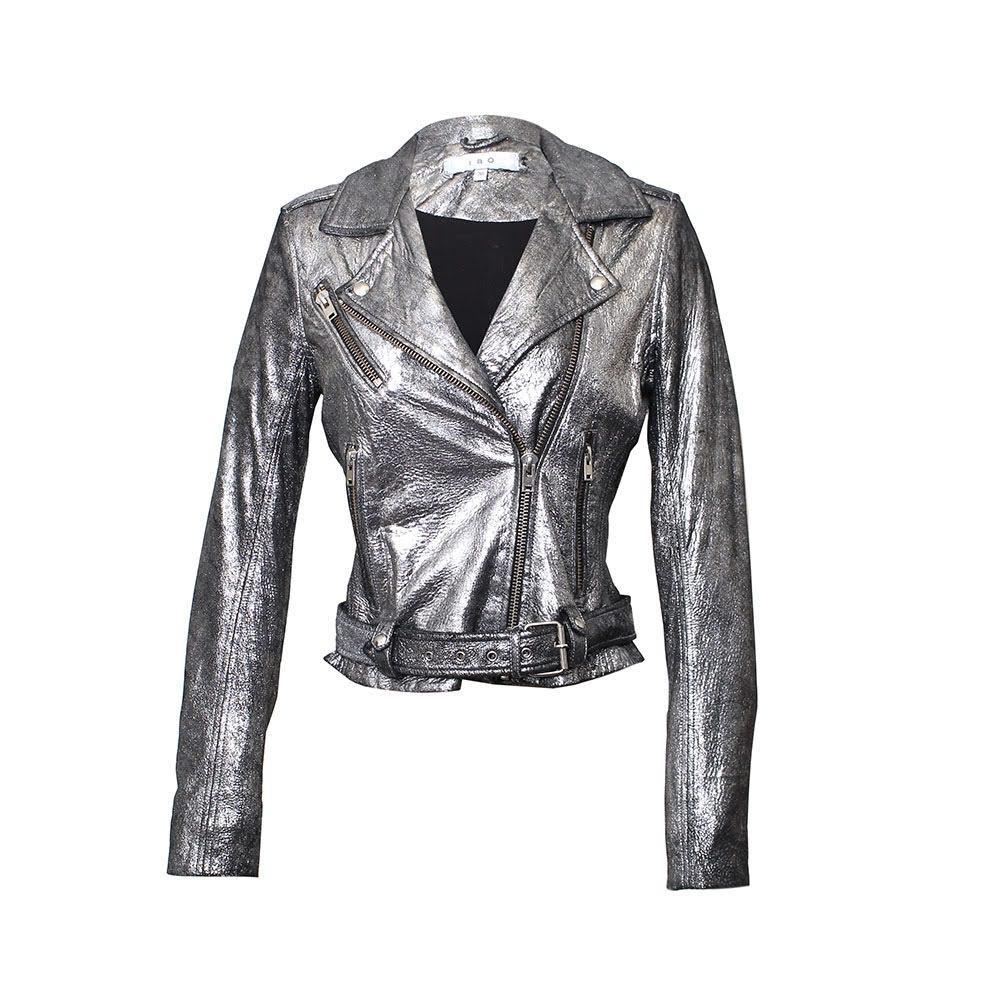 Iro Size Small Silver Brooklyn Jacket
