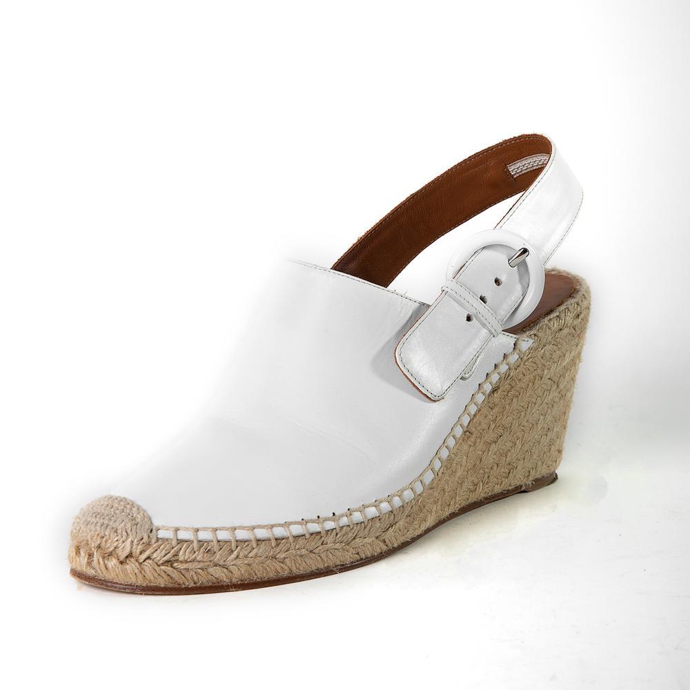 Celine Size 11 Leather & Espadrille Wedges