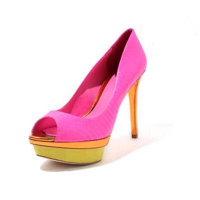 Brian Atwood Size 10 Peep Toe Multicolor Pump