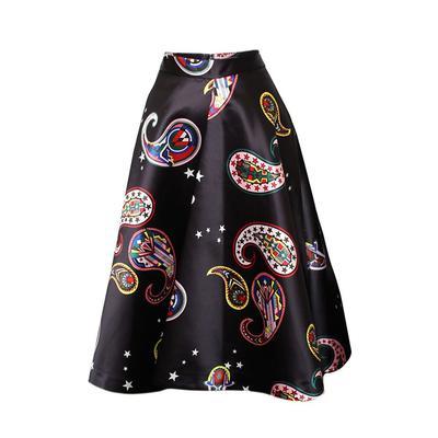 MSGM Size 38 Black Paisley Skirt