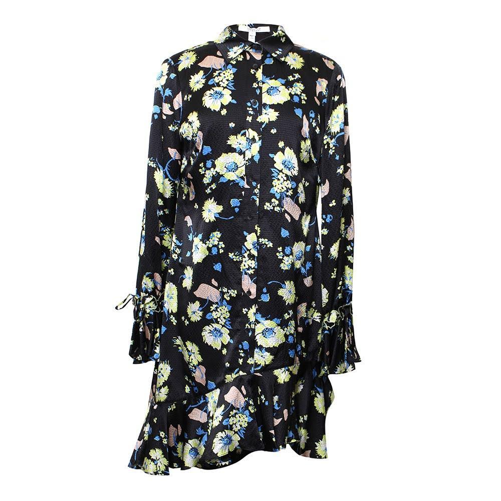 Derek Lam Size 8 Medium Floral Silk Dress