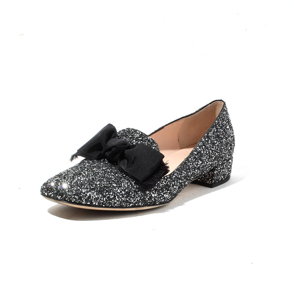 Kate Spade Glitter Size 7.5 Slip On Loafers