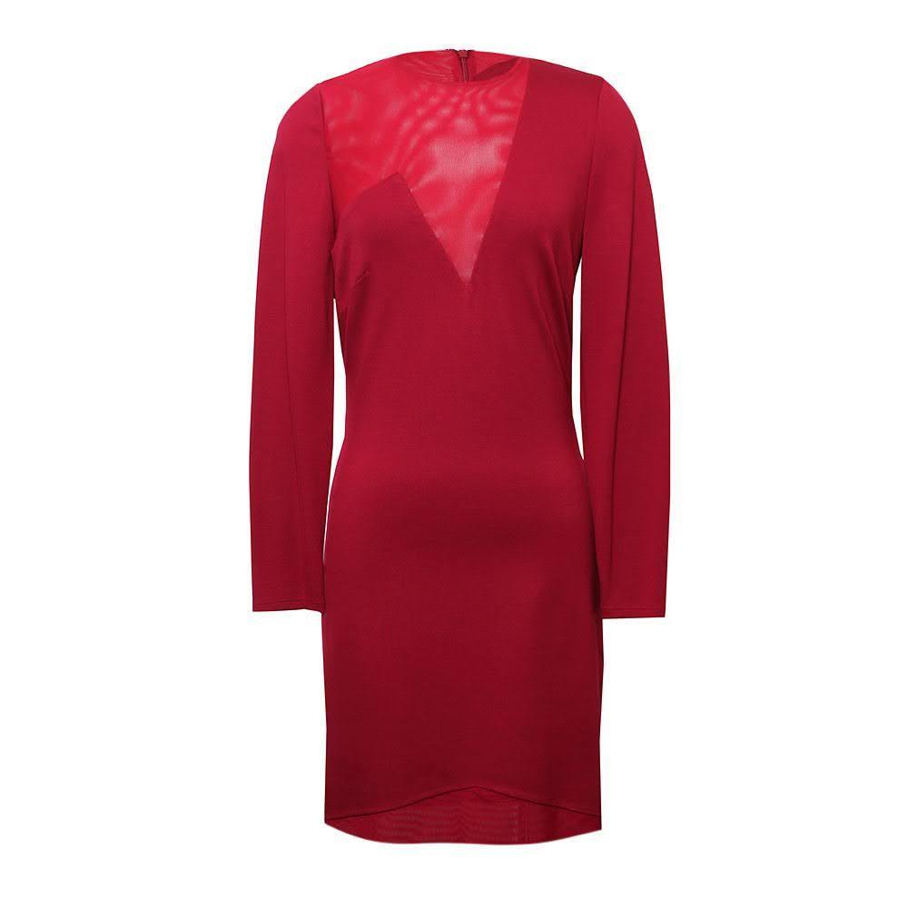 Halston Heritage Size 6 Red Dress