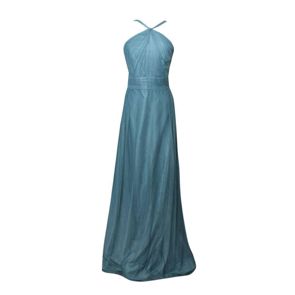 Monique Lhuillier Size Xl Teal Gown