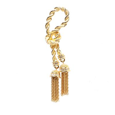 Christian Dior Knottes Rope Tassles Brooch