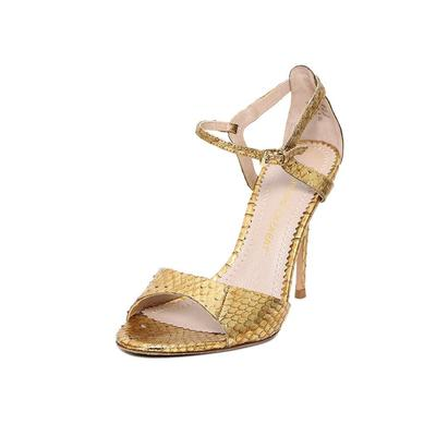 Jean Michael Cazabat Size 7 Gold Heels