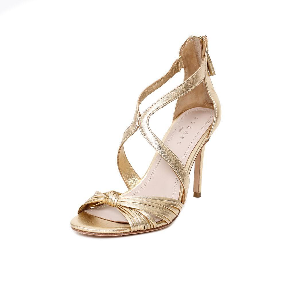 Sandro Size 7 Gold Heel