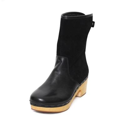 Frye Size 8 Black Suede Clog Boots