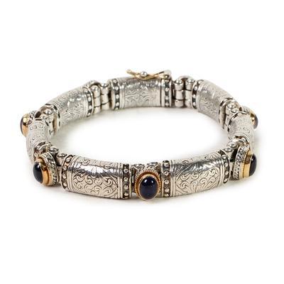 Konstantino Tanzanite Etched Bracelet
