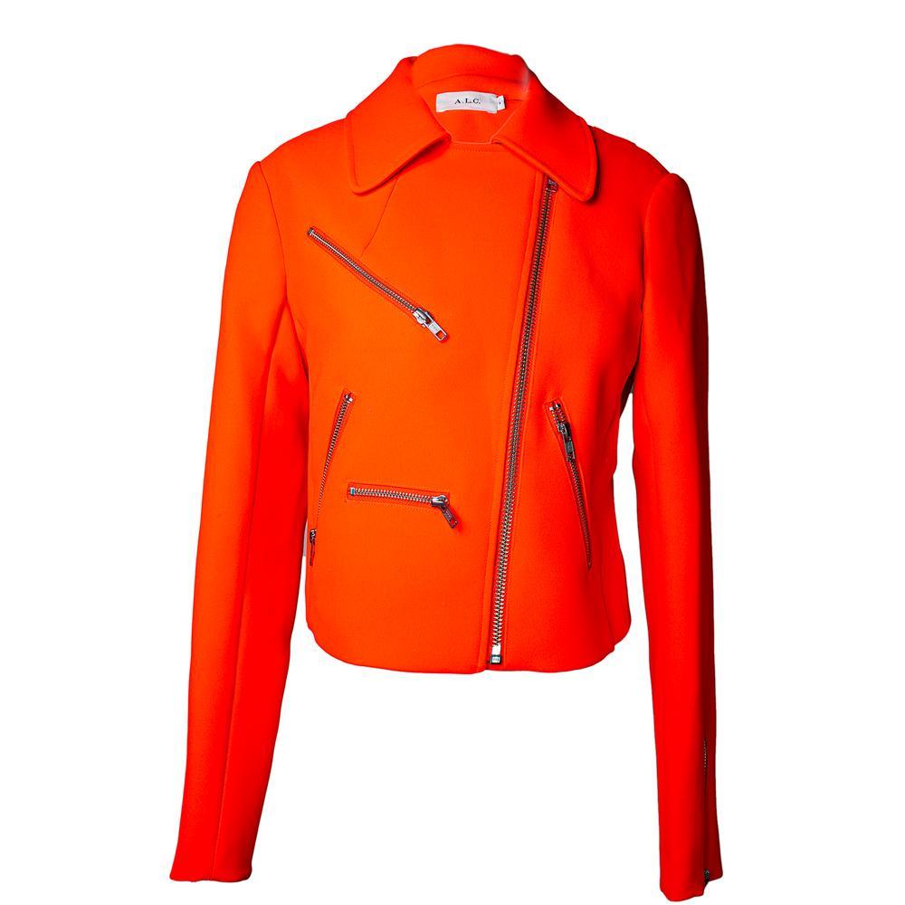 A.L.C.Size Small Bright Coral Moto Jacket