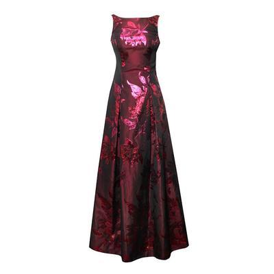 Aidan Mattox Size XS Burgundy Floral Gown