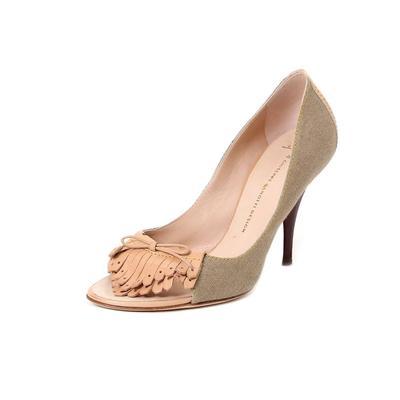 Giuseppe Zanotti Size 8.5 Peeptoe Fringe Heels