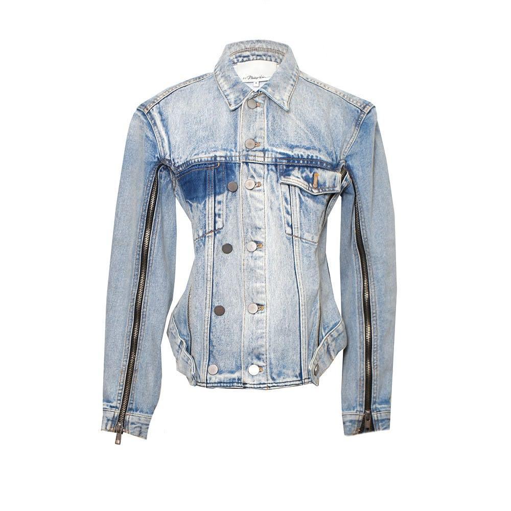 Phillip Lim Size S Denim Zipper Jacket