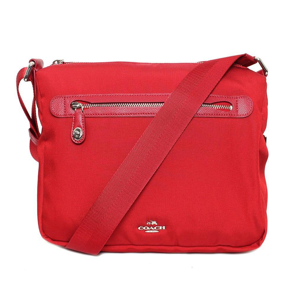 Coach Red Nylon Crossbody Bag