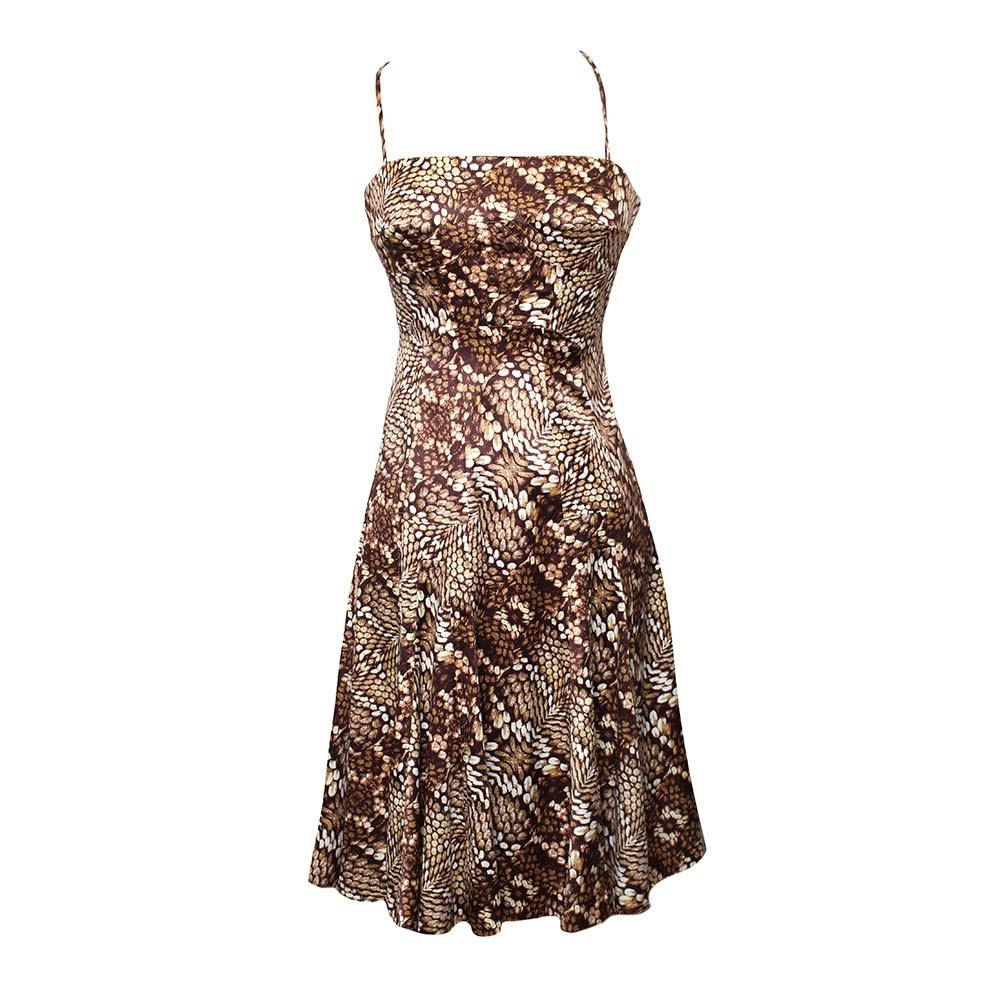 Roberto Cavalli Size Small Snake Print Dress