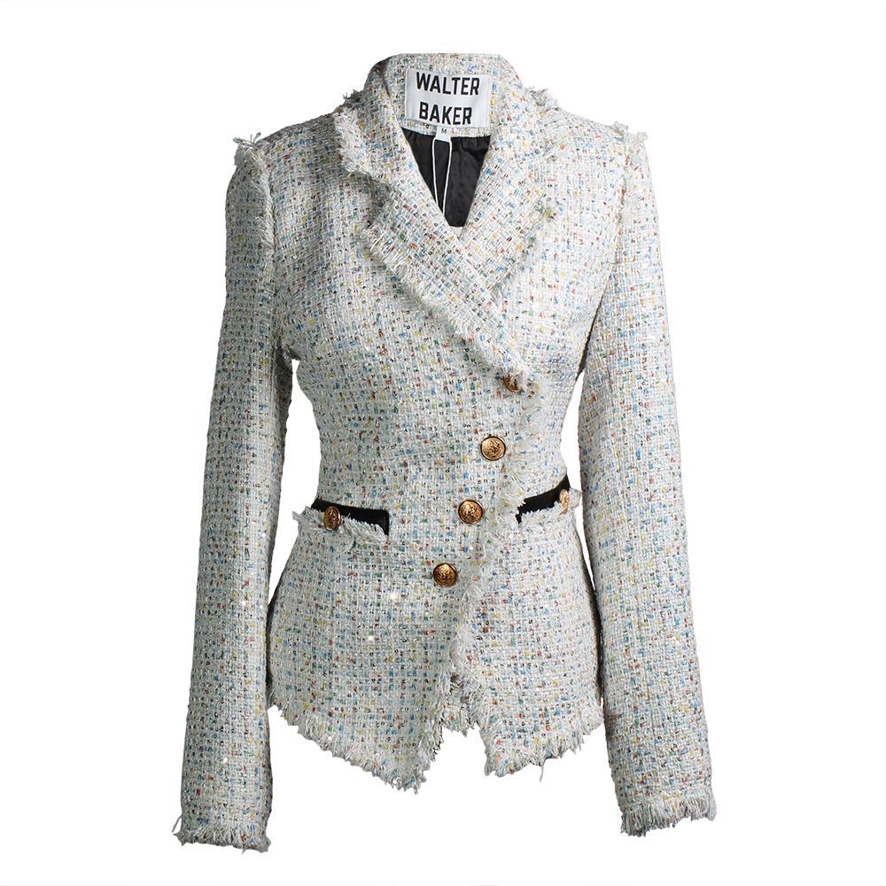 Walter Baker Size M Tweed Fanta Jacket